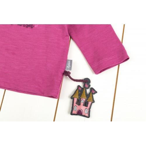 Розовый джемпер с лошадкой