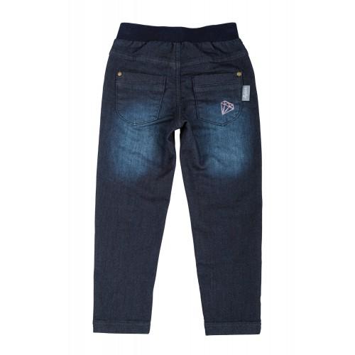 Синие джинсы с вышивкой