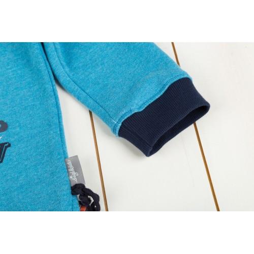 Голубой свитшот из эко-хлопка