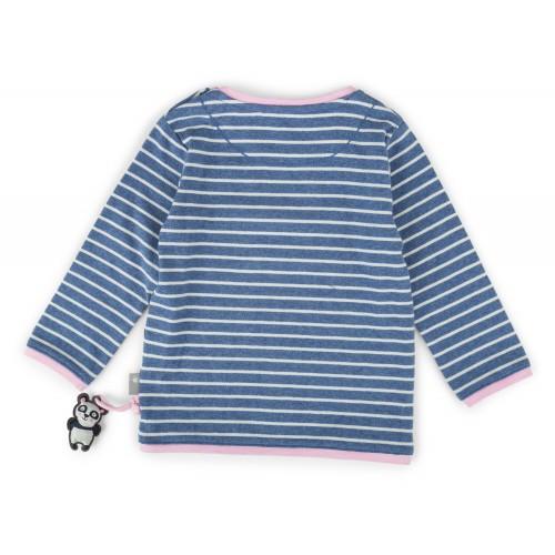 хлопковый полосатый джемпер с вышивкой