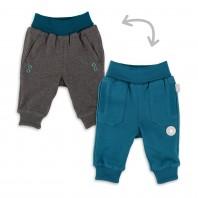 Двусторонние штанишки для малыша морская волна/беж