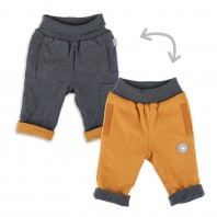 Двусторонние штанишки для малыша  оранж/беж