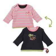 Розовый двусторонний джемпер для малышки