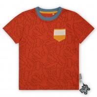 Красный джемпер с коротким рукавом sigikid, коллекция Живая Природа mini
