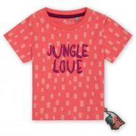 Розовый джемпер с коротким рукавом sigikid, коллекция Люблю джунгли! Baby