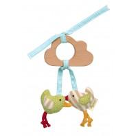 Игрушка хваталка для малыша sigikid, Цыплятки,  Зеленая Коллекция