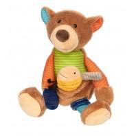 Развивающая мягконабивная игрушка  sigikid, Медвежонок, коллекция PlayQ