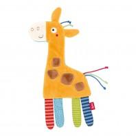 Мягконабивная игрушка sigikid, шуршащий комфортер Жираф, коллекция PlayQ