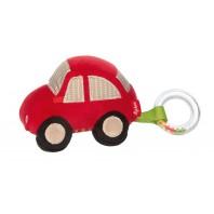 Развивающая мягкая игрушка sigikid, Красная машина, коллекция Папа & Я