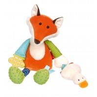 Развивающая мягконабивная игрушка  sigikid, Лисенок, коллекция PlayQ