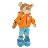 Обучающая мягконабивная игрушка   sigikid, Мишка в одежке