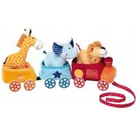Развивающая мягконабивная игрушка   sigikid, поезд Сафари