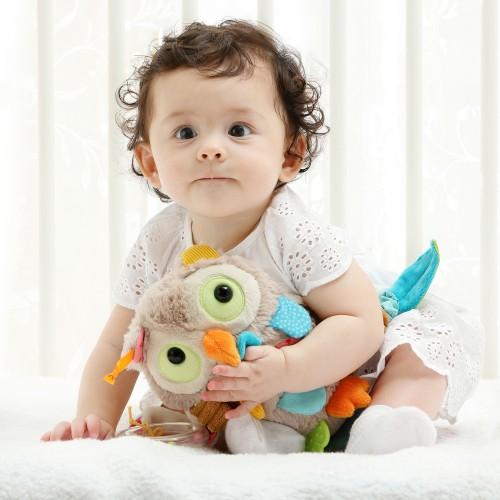 Развивающая мягконабивная игрушка   sigikid Сова