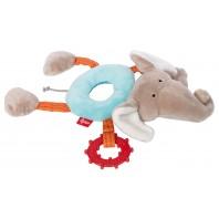 Развивающая мягконабивная игрушка  sigikid, Кольцо Слоник , коллекция PlayQ