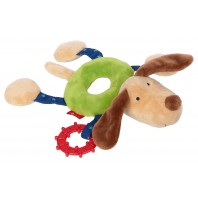 Развивающая мягконабивная игрушка  sigikid, Кольцо Собачка , коллекция PlayQ