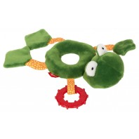 Развивающая мягконабивная игрушка  sigikid, Кольцо Лягушка , коллекция PlayQ
