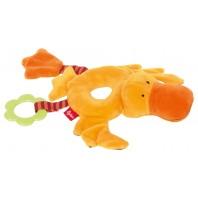 Развивающая мягконабивная игрушка  sigikid, Кольцо Утка, коллекция PlayQ