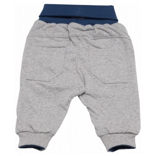 Двусторонние серо-синие штанишки для малыша
