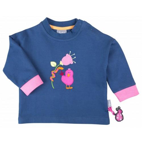 Джемпер с розовой вышивкой