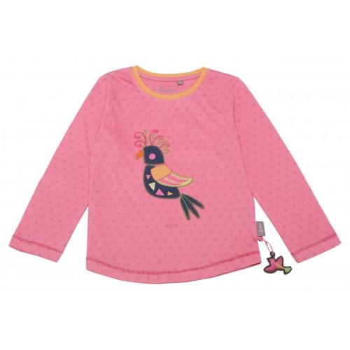Розовый джемпер с принтом и вышивкой