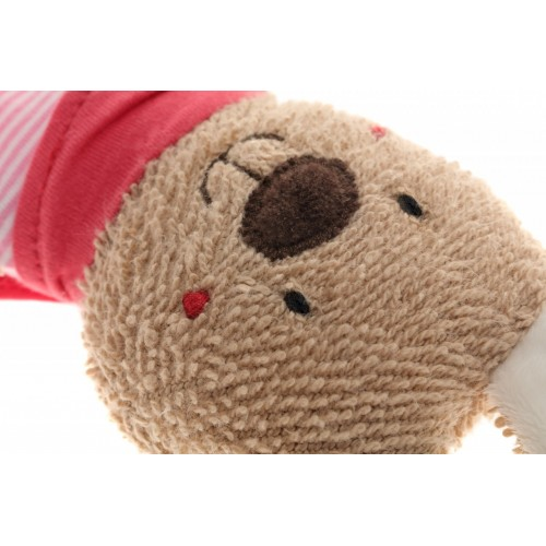 Мягконабивная игрушка sigikid, комфортер Розовый Заяц с держателем для соски, коллекция Классик