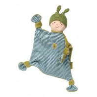 Мягконабивная игрушка sigikid, кукла комфортер голубой, Зеленая коллекция