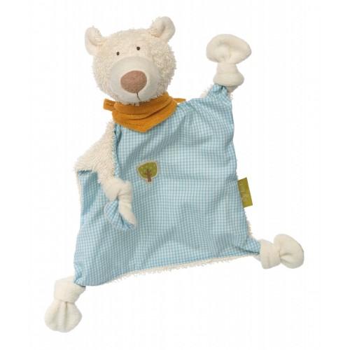 Мягконабивная игрушка sigikid, комфортер Мишка, Зеленая коллекция