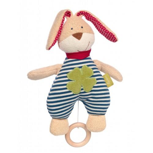 Мягконабивная игрушка sigikid, Музыкальный Кролик, Зеленая коллекция