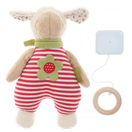 Мягконабивная игрушка sigikid, Музыкальная Овечка,  Зеленая коллекция