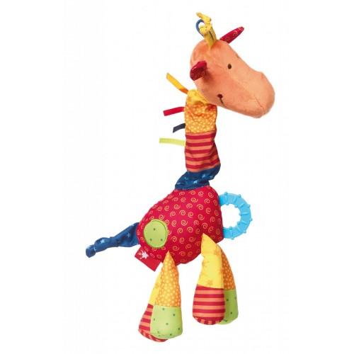 Развивающая мягконабивная игрушка  sigikid, Жираф, коллекция Активный Малыш