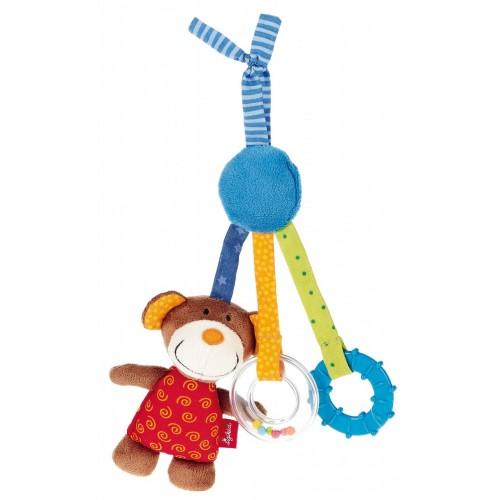 Развивающая мягконабивная игрушка  sigikid,  Медвежонок с клипсой, коллекция Активный Малыш