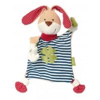 Мягконабивная игрушка sigikid, комфортер  Кролик, Зеленая коллекция