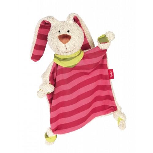 Мягконабивная игрушка sigikid, комфортер полосатый кролик, коллекция  Классик