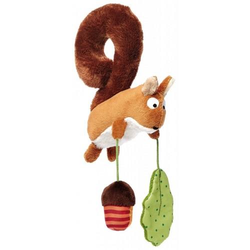 Развивающая мягконабивная игрушка с клипсой Белка  sigikid