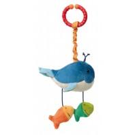Развивающая мягконабивная игрушка  sigikid, Кит с клипсой, коллекция Активный Малыш