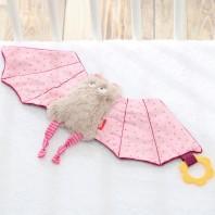 Мягконабивная игрушка sigikid, комфортер розовая Летучая Мышь, коллекция Городские Дети