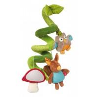 Развивающая мягконабивная игрушка  sigikid с клипсой, В Лесу, коллекция Активный Малыш