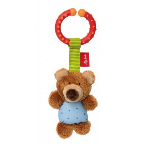 Развивающая мягконабивная игрушка  sigikid, Мишка с клипсой, коллекция Активный Малыш