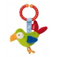 Развивающая мягконабивная игрушка  sigikid, Попугай с клипсой, коллекция Активный Малыш