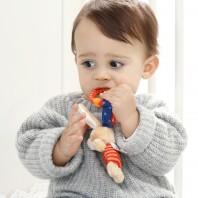 Развивающая мягконабивная игрушка  sigikid, Кролик с клипсой, коллекция Активный Малыш