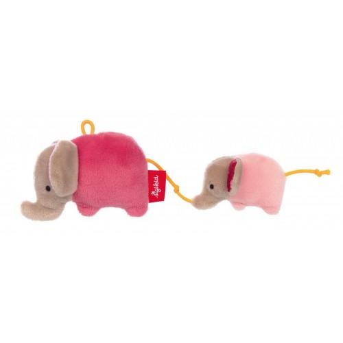 Игрушка-хваталка для малыша sigikid, Розовый Слоник, коллекция Красные Звезды