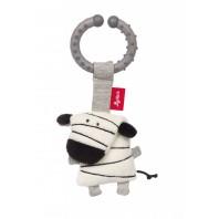 Мягконабивная игрушка sigikid, Зебра на клипсе, коллекция Городские Дети