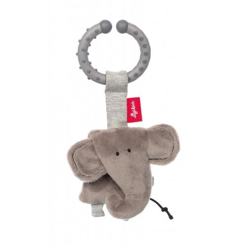 Мягконабивная игрушка sigikid, Слоник на клипсе, коллекция Городские Дети