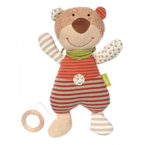 Мягконабивная игрушка sigikid, Музыкальный Медвежонок, Зеленая коллекция