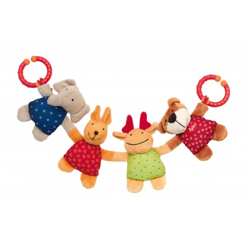 Развивающая мягконабивная игрушка  sigikid, Зверята, коллекция Активный Малыш