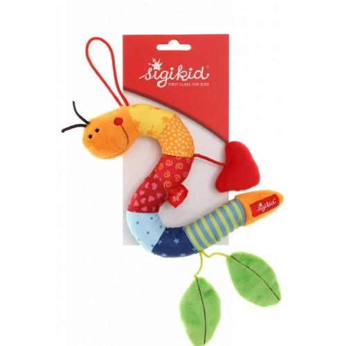 Развивающая мягконабивная  игрушка  sigikid, Гусеница с листиками, коллекция Активный Малыш