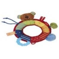 Развивающая мягконабивная игрушка  sigikid, Кольцо Мишка, коллекция Активный Малыш